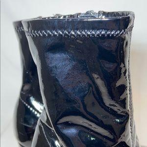 Piper Shoes - Little Girls ankle sock block heel boots black, 13
